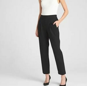 GAP High Rise Pleated Pull On Trousers Black 2